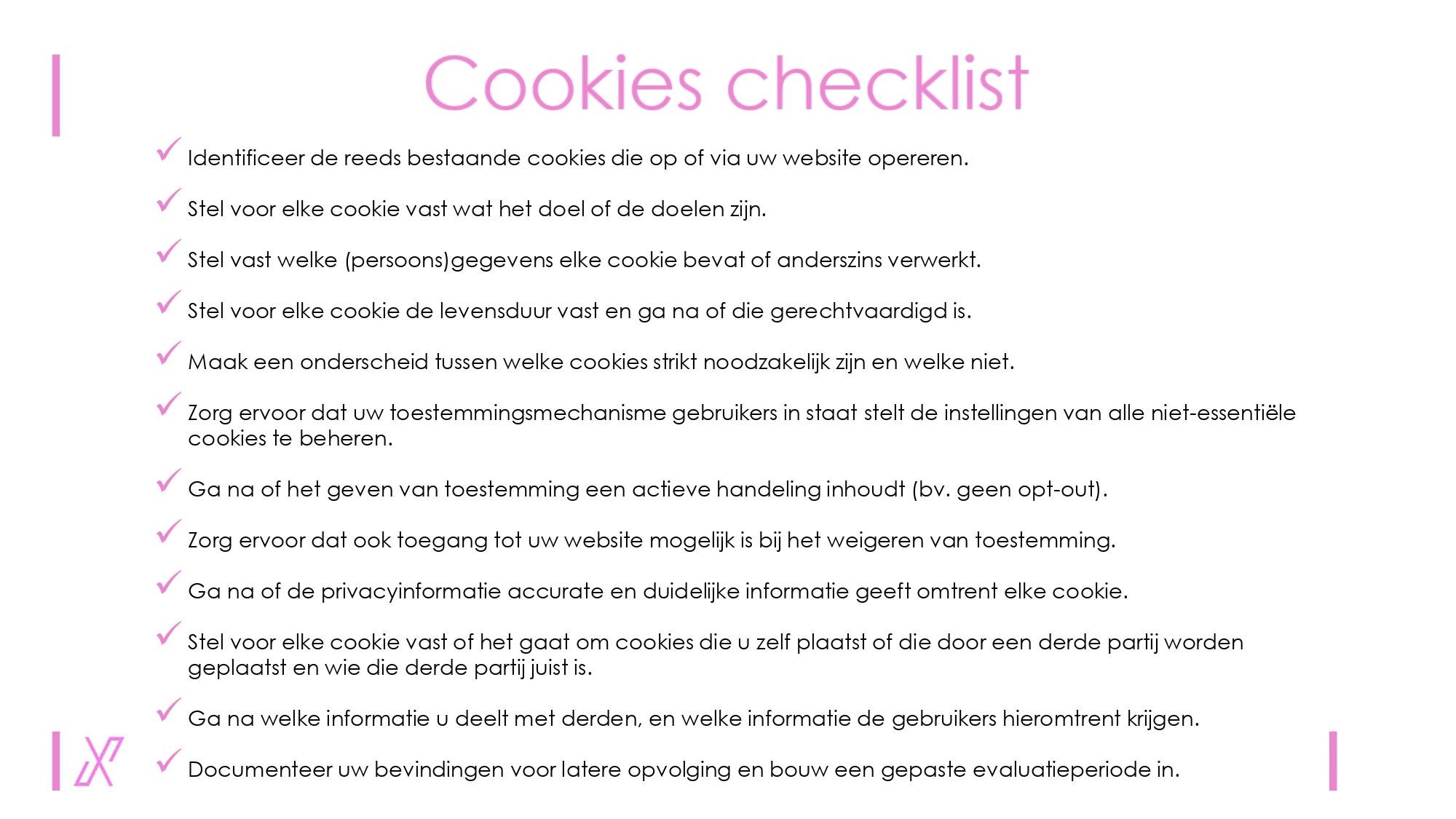 cookie checklist